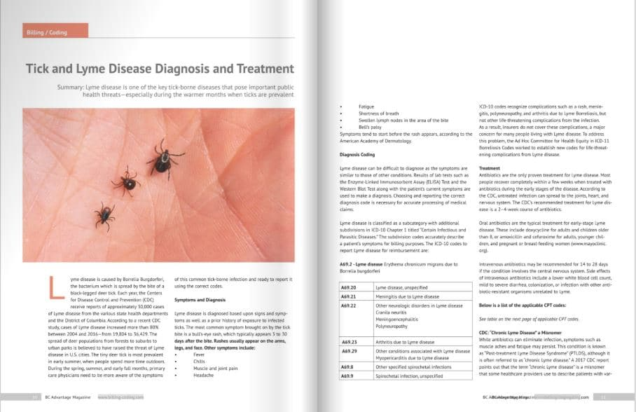 BC Advantage Magazine publishes OSI's Article on Tick and Lyme Disease Diagnosis and Treatment